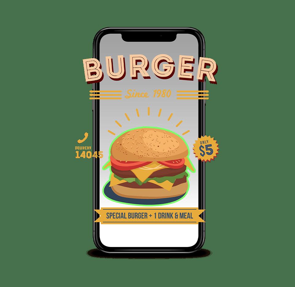 burger realidad aumentada