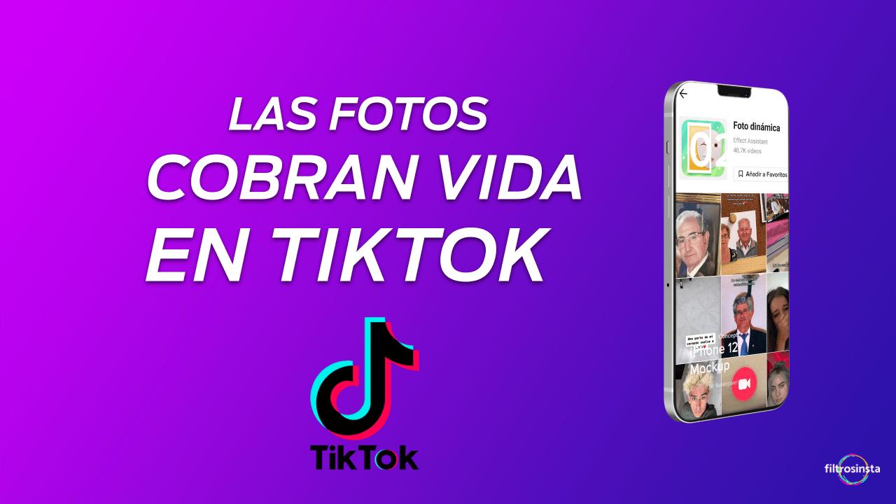 Las fotografías cobran vida con este filtro de Tik Tok